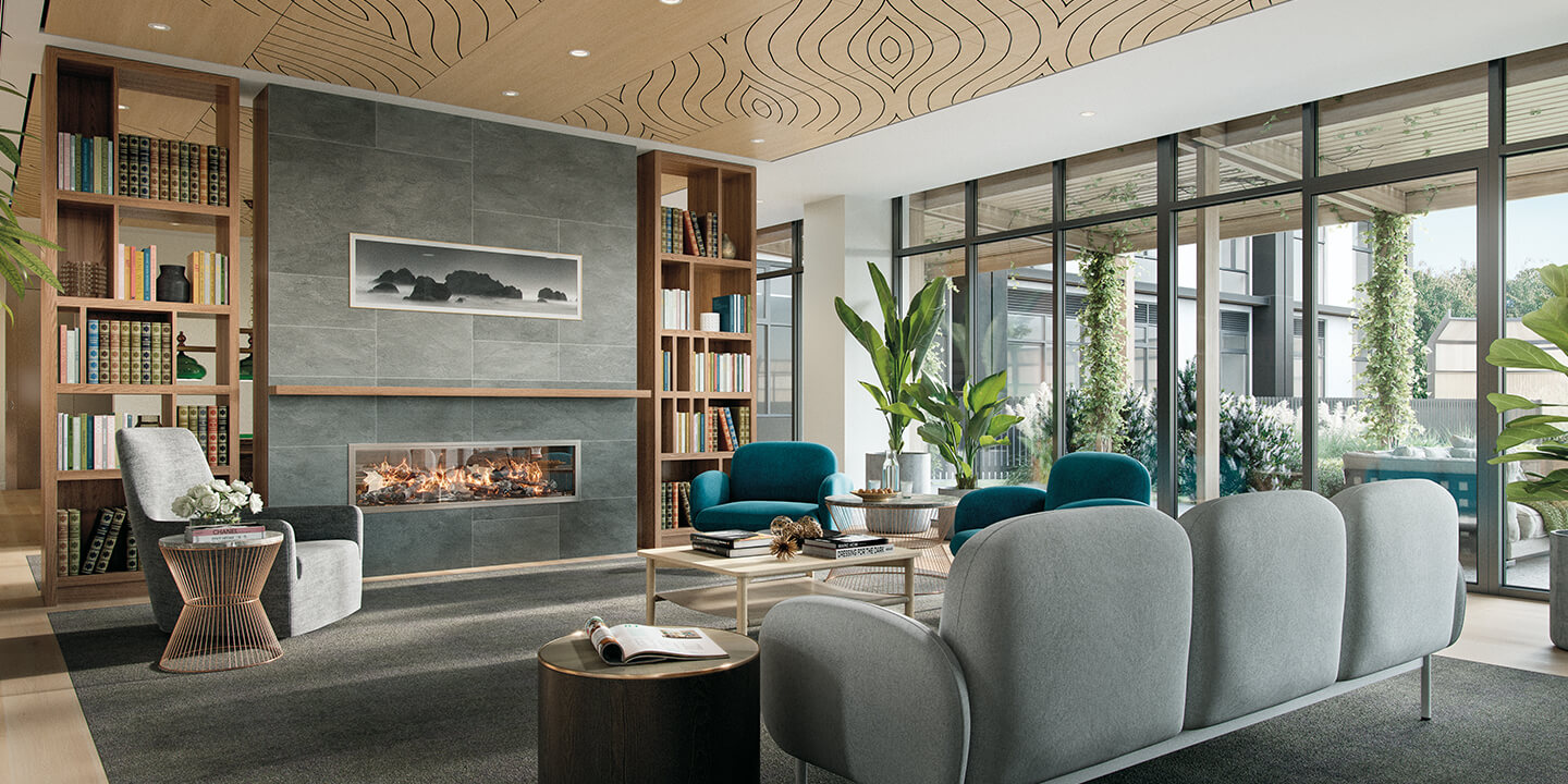 Residents' lounge (architectural visualisation), Life Care Gaynes Park Suites