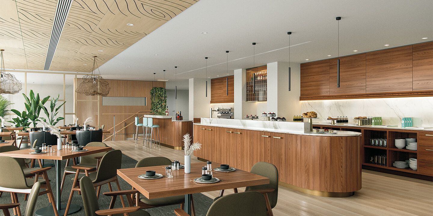 Dining area (architectural visualisation), Life Care Gaynes Park Suites