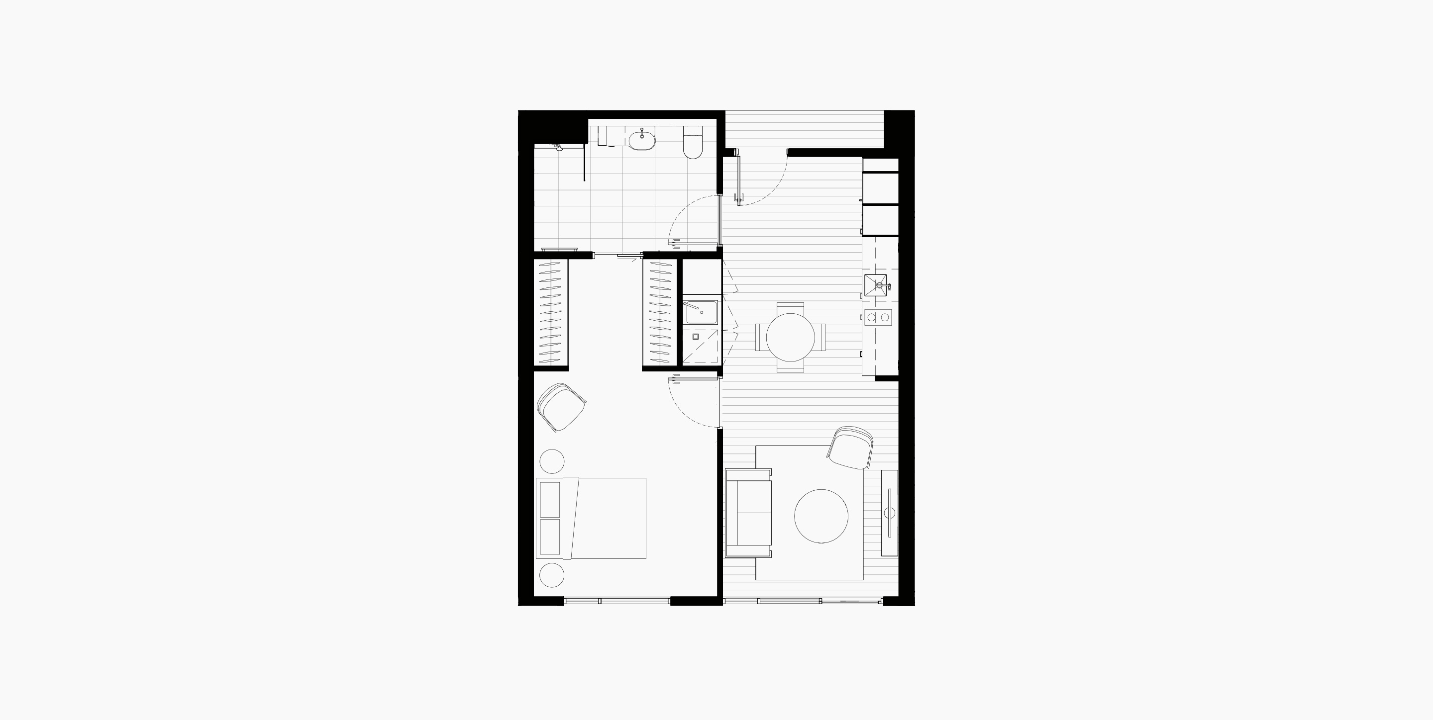 Floorplan - One bedroom, Life Care Gaynes Park Suites